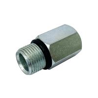 Гайка D8 М12*1 наруж.резьба / D6 М10*1 внутр.резьба (сталь)